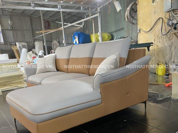Sản phẩm sofa góc mới hoàn thành để bàn giao cho khách