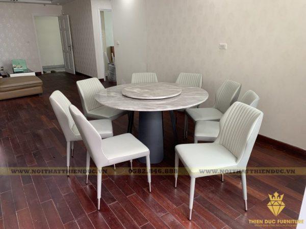 Bàn giao bộ bàn tròn 10 ghế siêu cao cấp